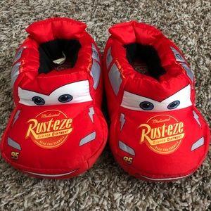 Kids Lightning McQueen slippers size 9-10 toddler.